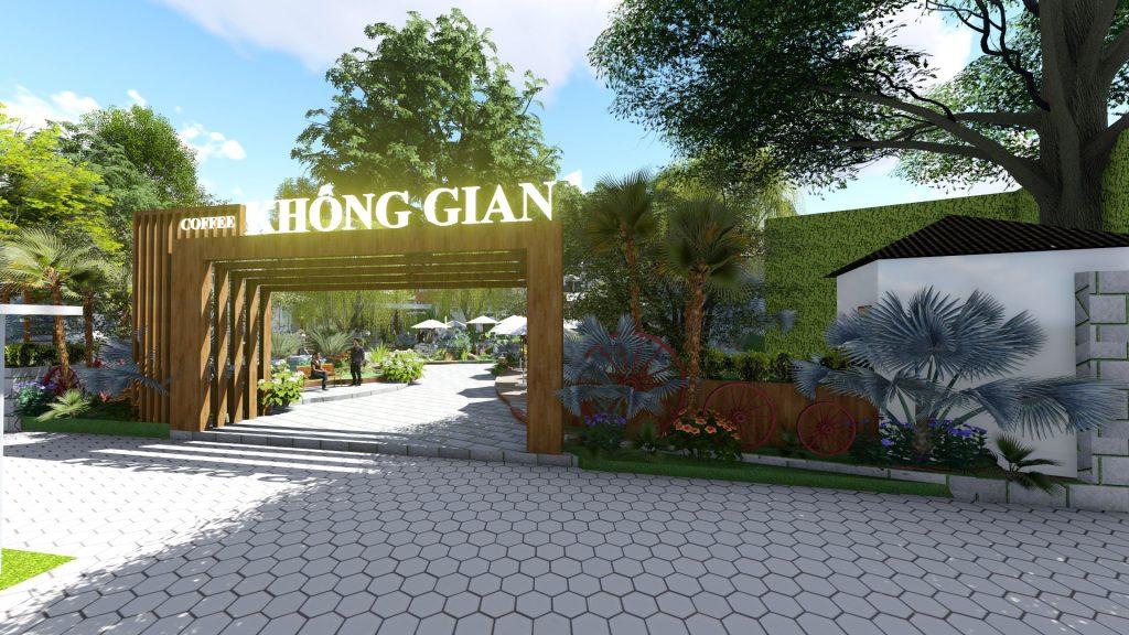 Thiết kế quán cafe sân vườn BT