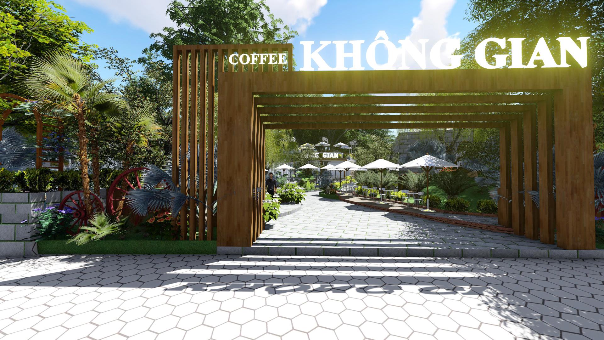 Thiết kế quán cafe sân vườn Hóc Môn