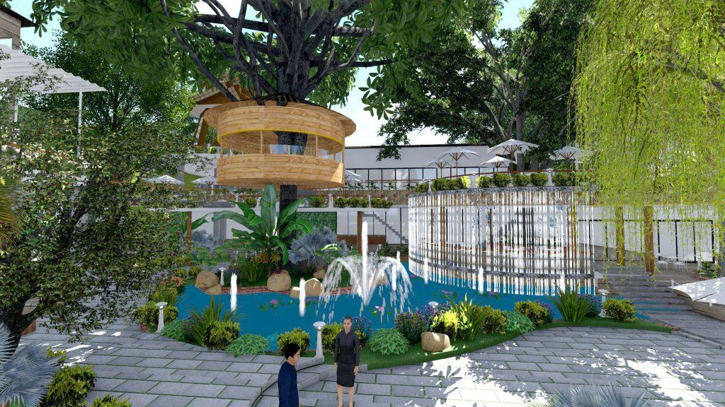Thiết kế quán cafe sân vườn Long An