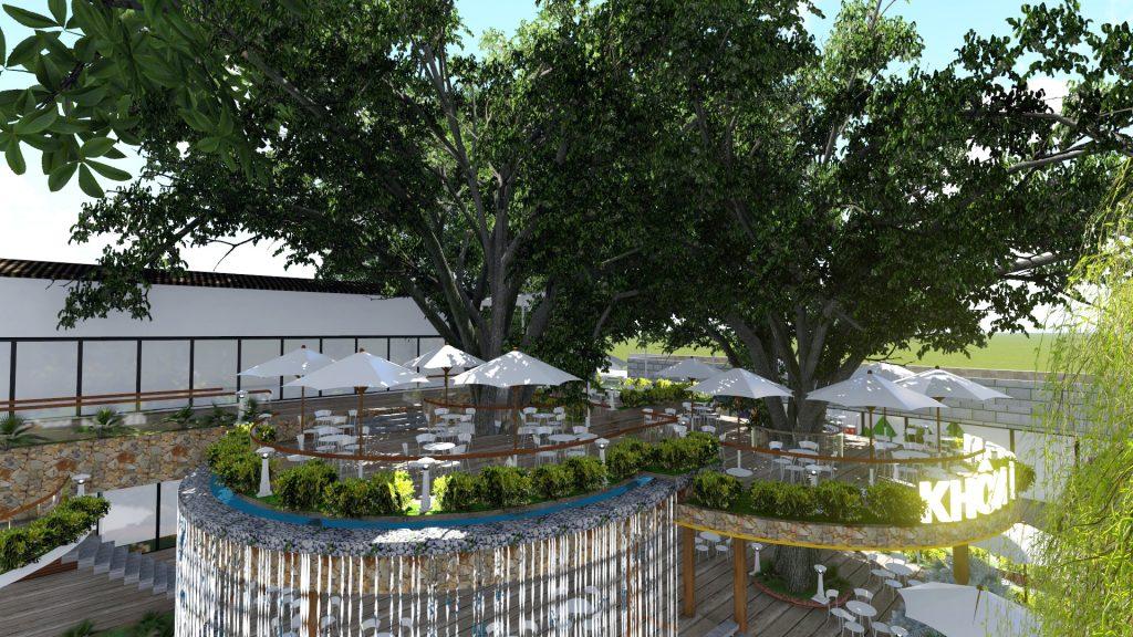 Thiết kế quán cafe sân vườn Long Thành Đồng Nai