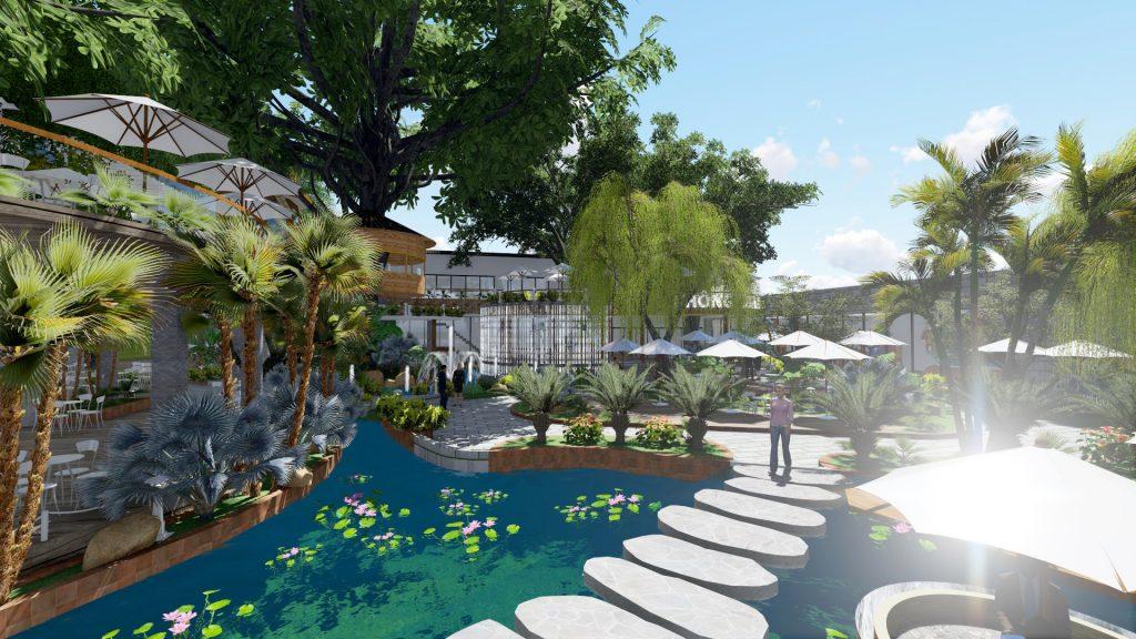 Thiết kế quán cafe sân vườn quận 2