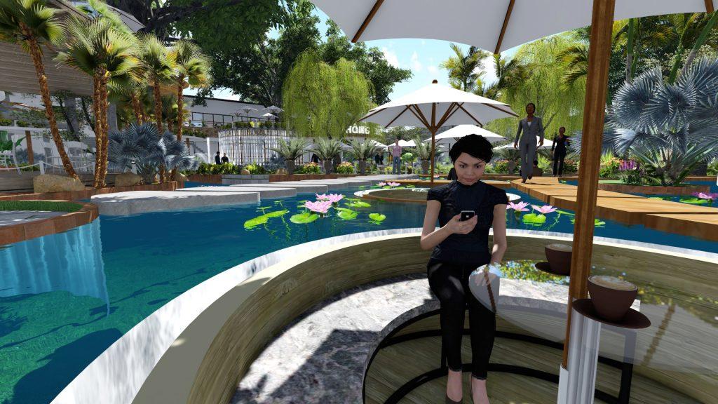 Thiết kế quán cafe sân vườn quận 9
