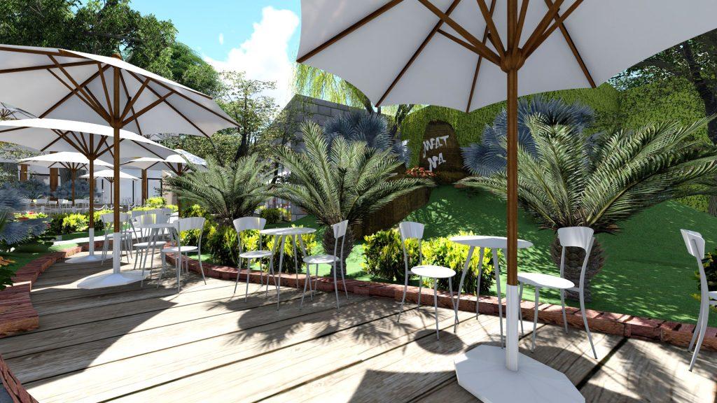 Thiết kế quán cafe sân vườn thoáng
