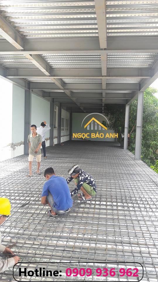 xây dựng nhà phố khung thép