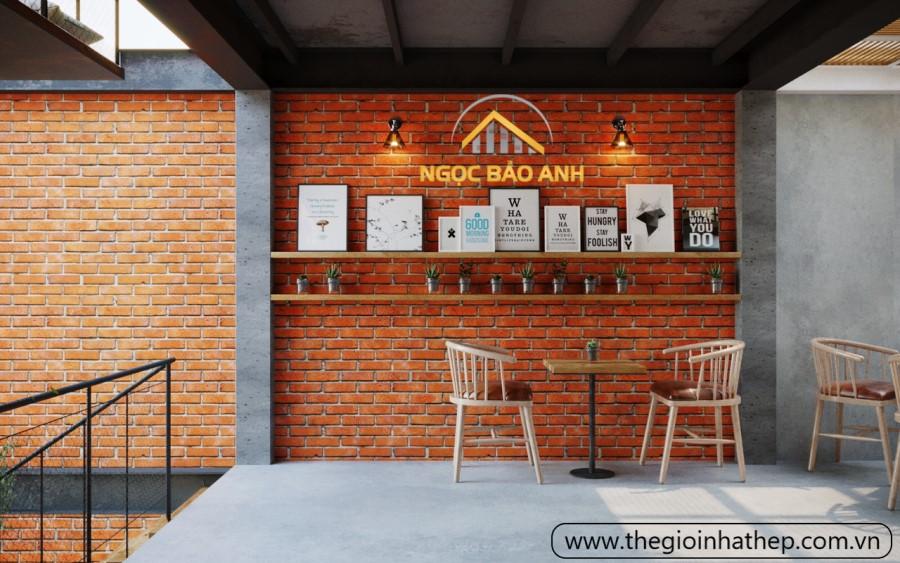 xây quán cafe khung tiền chế