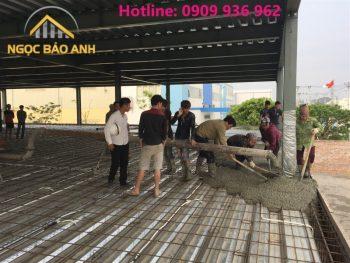 đổ bê tông sàn deck nhà xưởng
