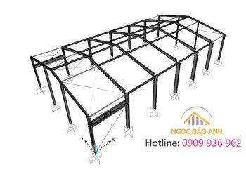 Thiết kế thi công xưởng 35mx45m Thuận An Bình Dương