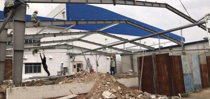 Nhà thầu thi công nhà xưởng tại đường số 10 KCX Tân Thuận