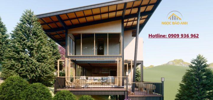 Thiết kế nhà trên đồi